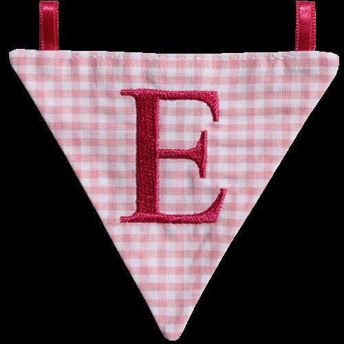 Wimpel E - rosa