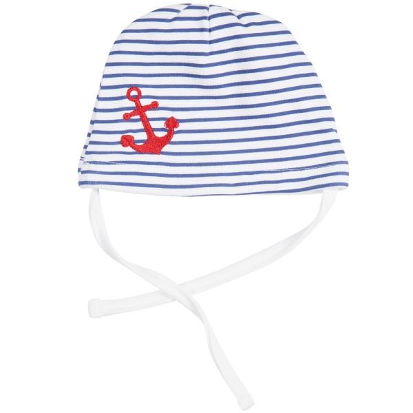 Babymütze Ringeljersey Anker navy