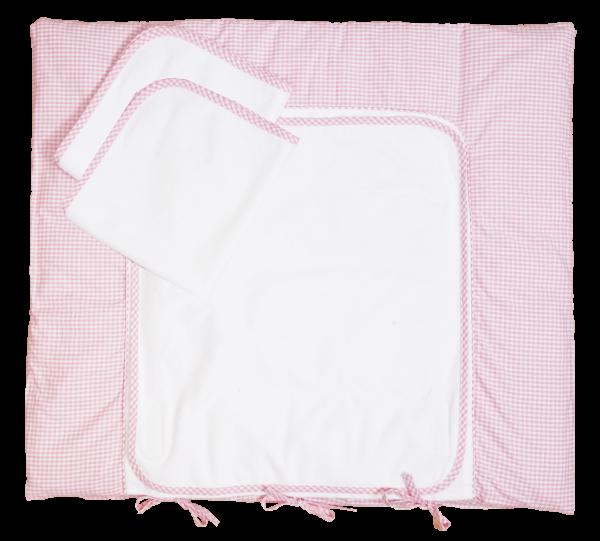 Wickeltischauflage mit 3 x Nässeschutz, rosa, 70 x 75 cm