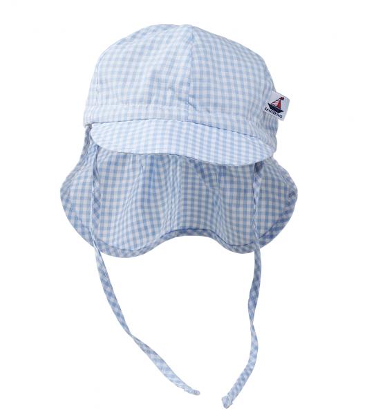 Sommermütze mit Nackenschutz, blau