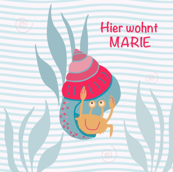 Kinderbild personalisiert mit Krabbe
