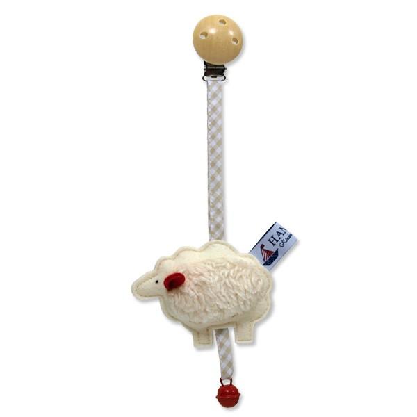 Filzrassel Kinderwagenanhänger Schaf
