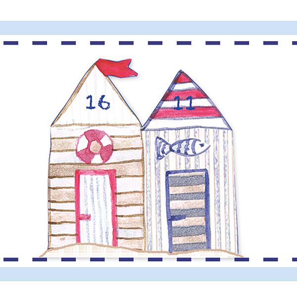 Kinderzimmerbordüre Strandhaus