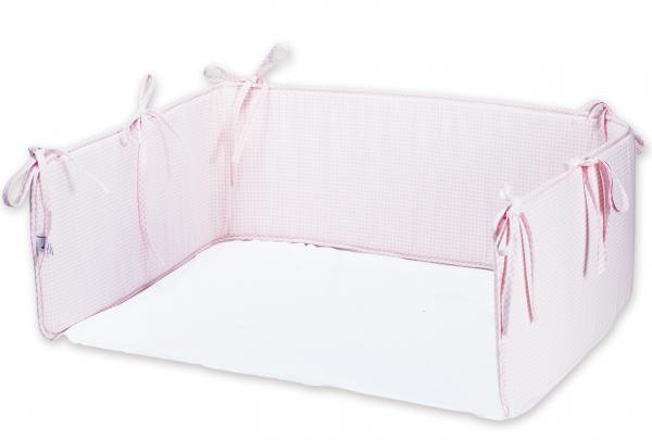 Stubenwagen Ausstattung Rosa : Nestchen vichy karo rosa mit laken babygrundausstattung mädchen