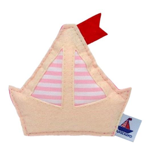 Babyrassel Schiff, rosa