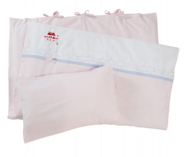 Bettwäsche Hausboot, Vichy Karo rosa