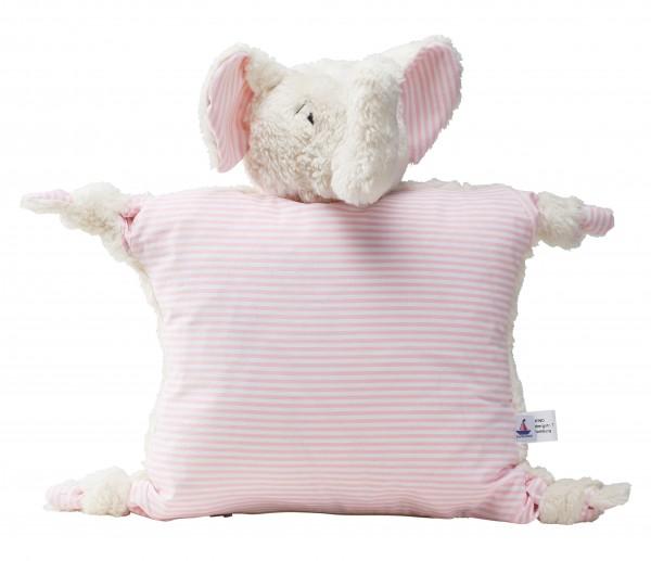 Kissen Elefant, rosa, 30 x 30 cm