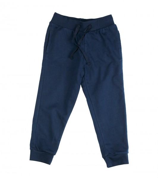 Jersey Hose slim fit navy blau