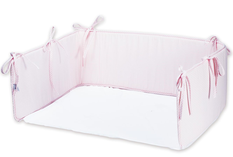 Nestchen vichy karo rosa mit laken babygrundausstattung