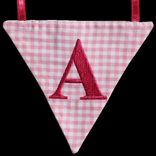 Wimpel A - rosa