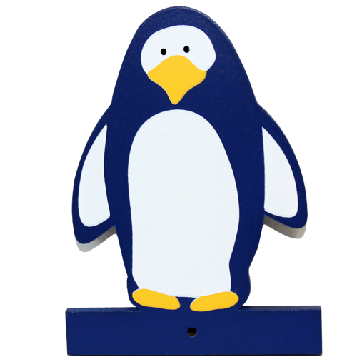 Motiv für die Kindergarderobe Pinguin
