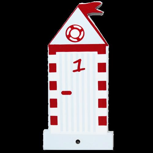 Motiv für die Kindergarderobe Strandhaus