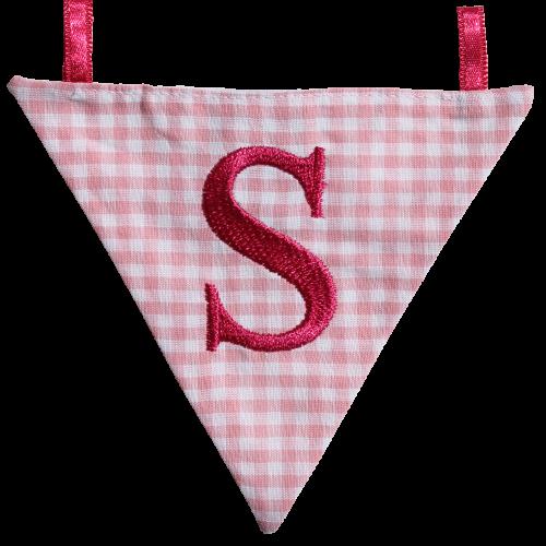 Wimpel S - rosa