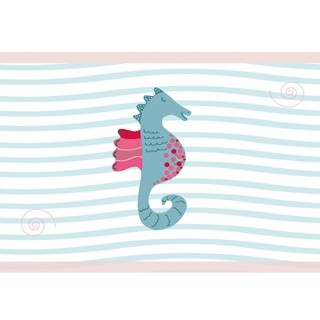 Kinderzimmerbordüre Seepferdchen