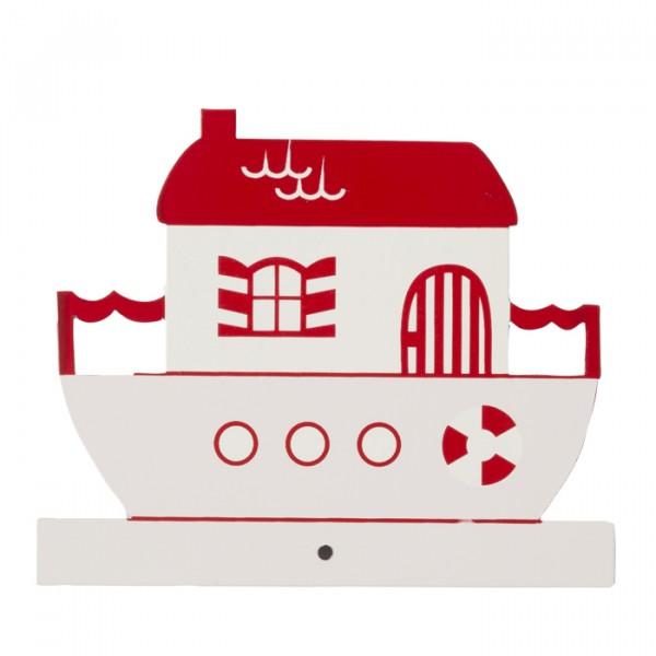 Motiv für die Kindergarderobe Hausboot