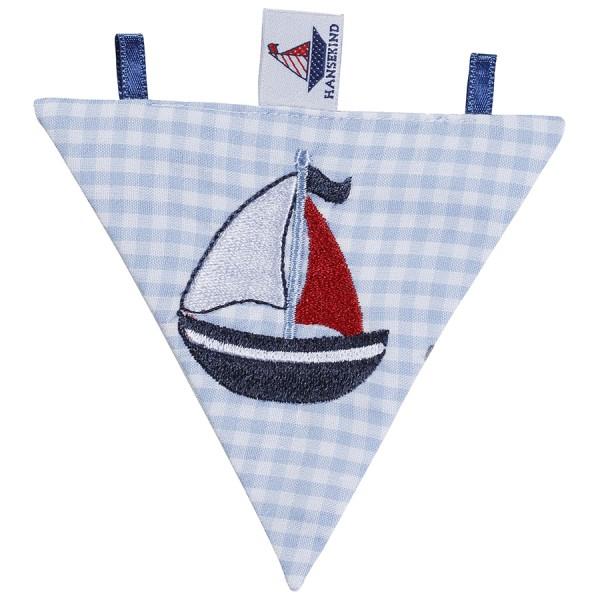 Wimpel mit Segelschiff blau