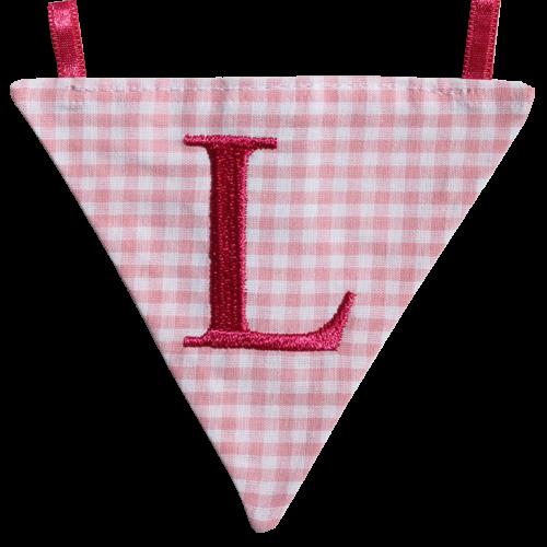 Wimpel L - rosa